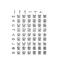 3D korean alphabet set3 cg model