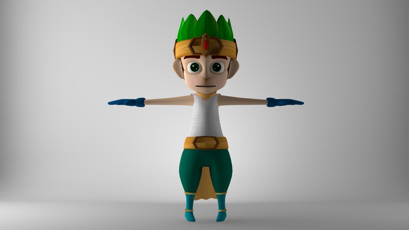 3D model monkey character