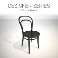 3D designer ton chair model