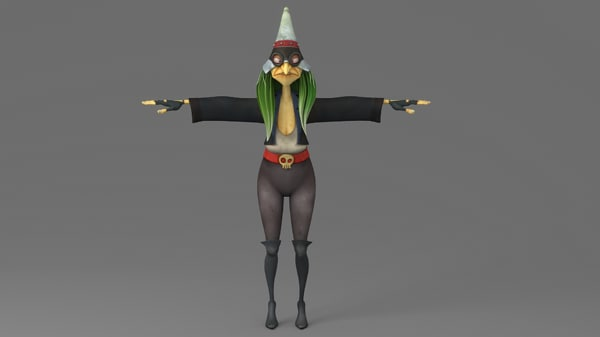 3D witch cartoon toon