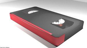 casette tape video 3D