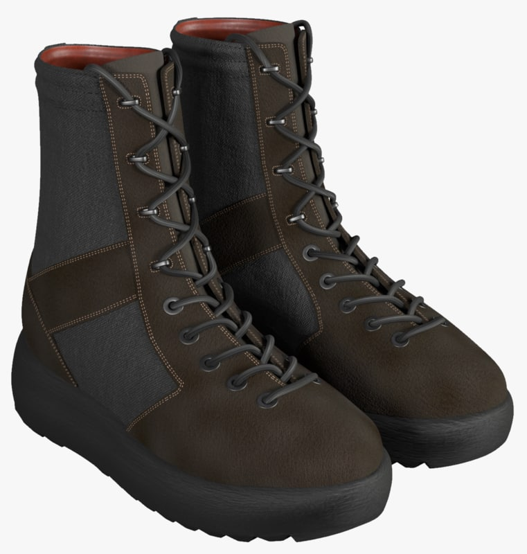 3D military boots model