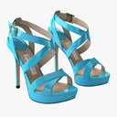 high heel sandals 3D models