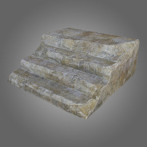 concrete stairs pbr 3D model