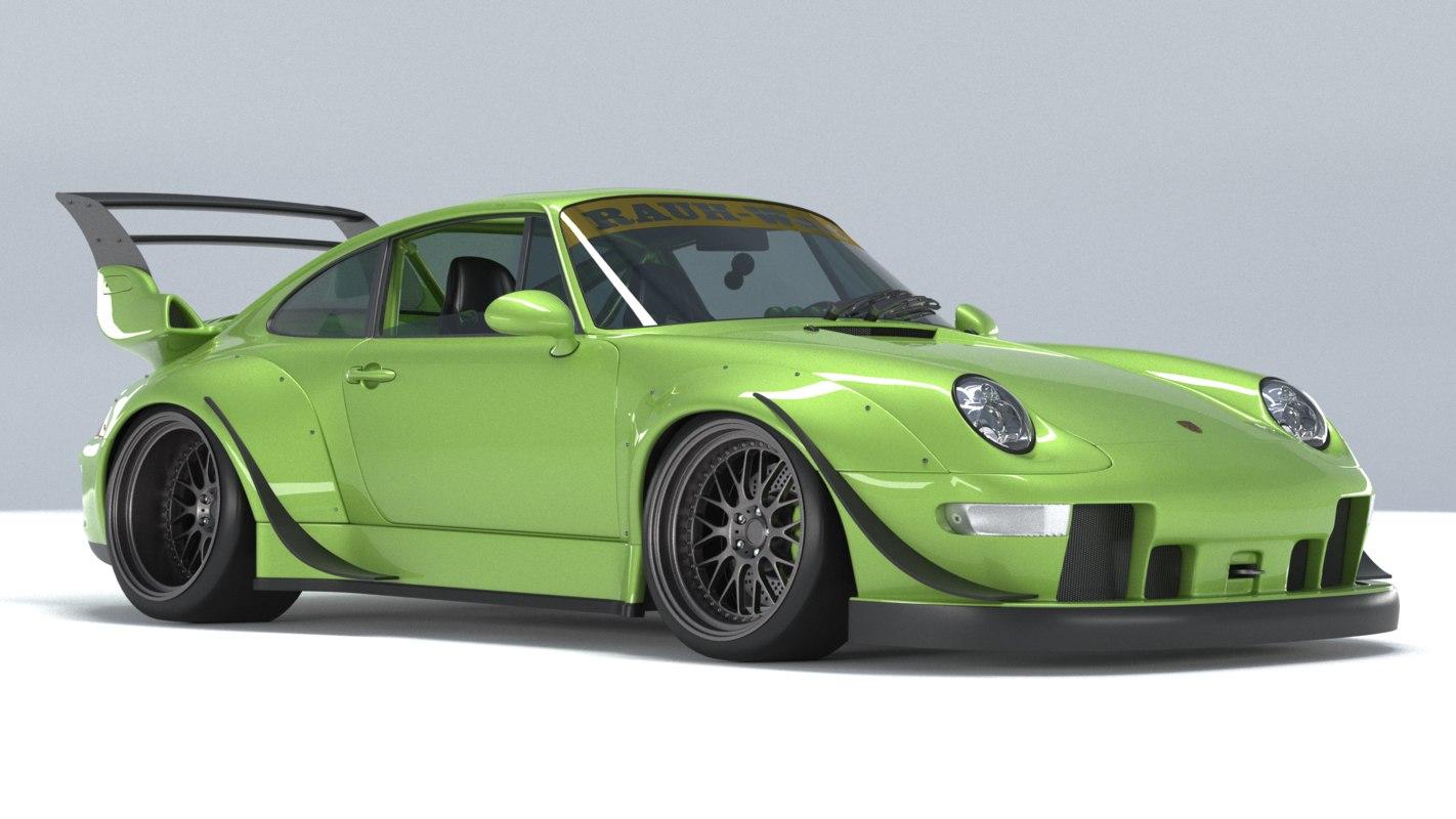 porsche 911 rwb 3D