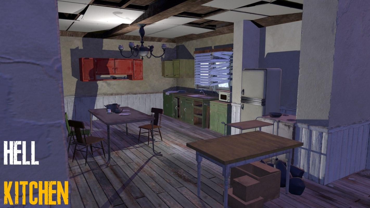 3D model scene abandoned