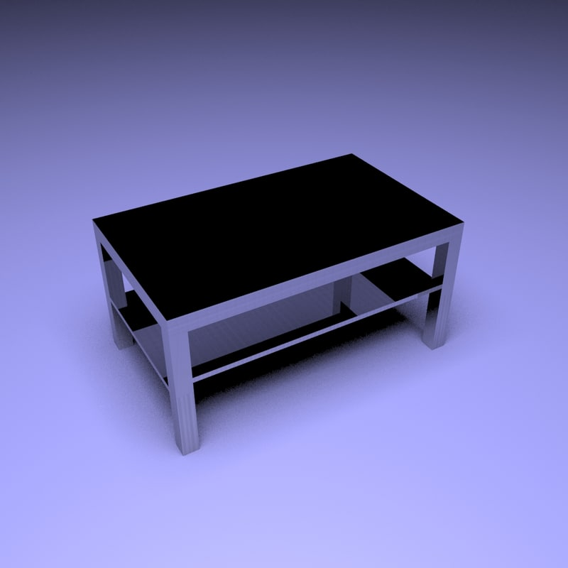 3D lack coffee table black-brown