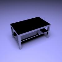 3D lack coffee table black-brown