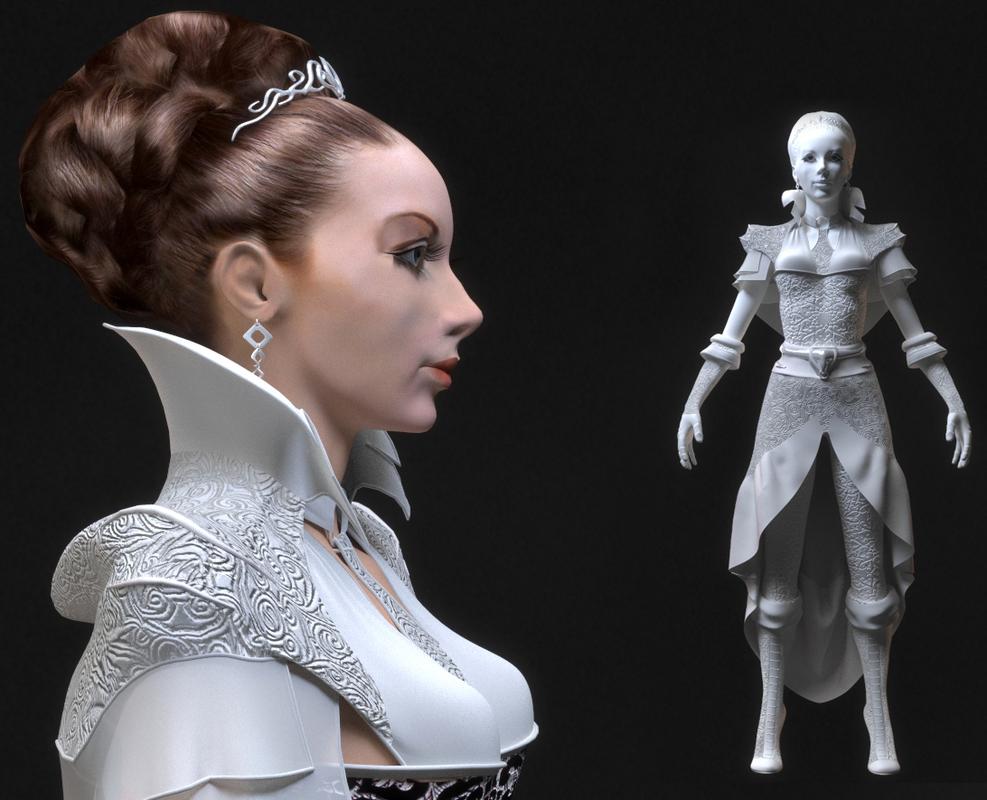 beautiful girl princess 3D model