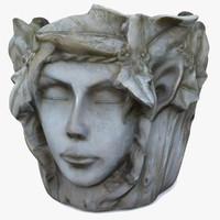 3D ready plant pot faces