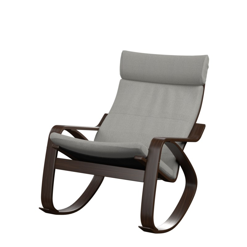 3D poeng rocking chair model