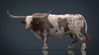 3D texas longhorn