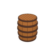 old barrel cg cad 3D model