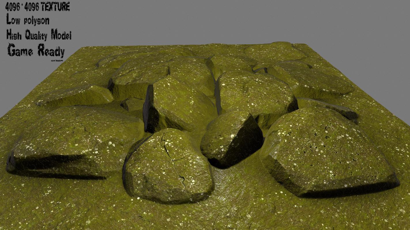 3D lava rock model
