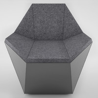 3D prism lounge chair