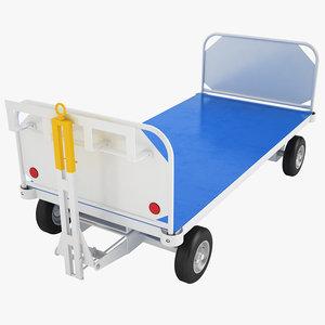 airport baggage cart 3D model