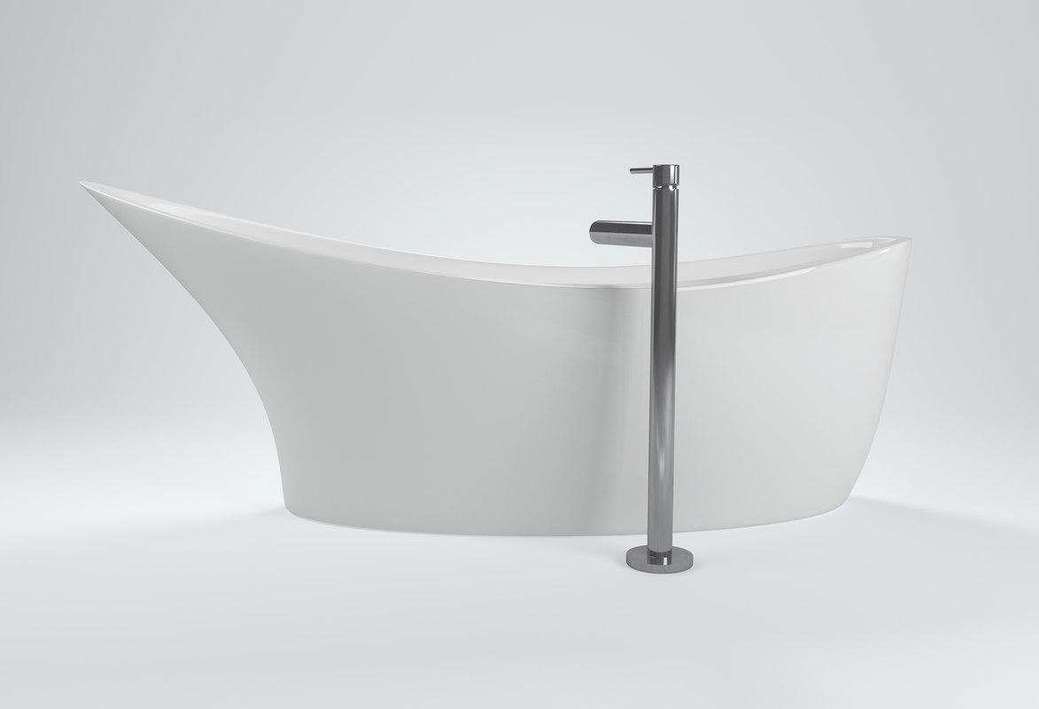 modern freestanding bathtub 3D model