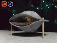 3D cat bed