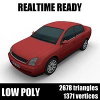 Generic low poly sedan car 005