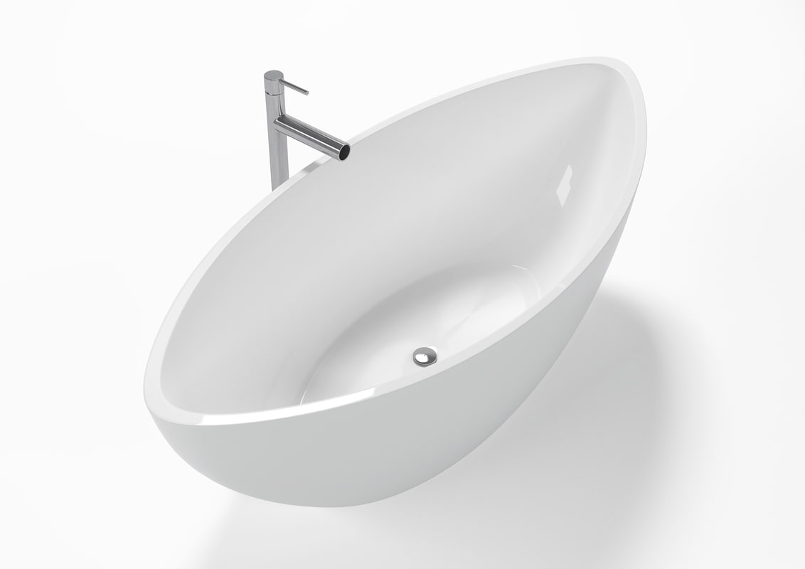 3D modern design freestanding bathtub model