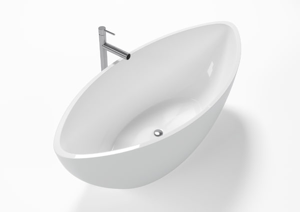 3D modern design freestanding bathtub model