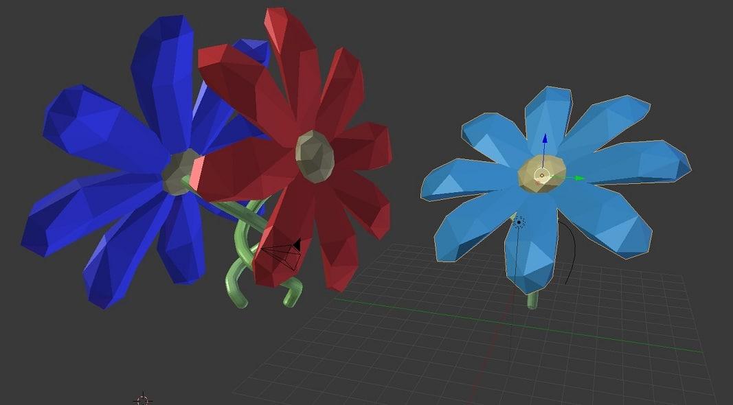 flowers 3D model