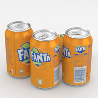3D beverage fanta orange 330ml