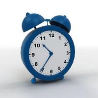 cartoon clock 3D model