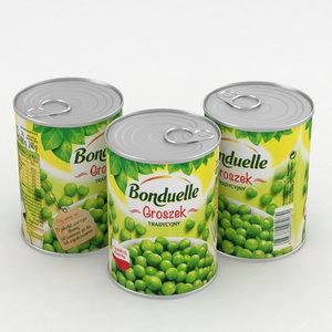 3D bonduelle green peas 400ml
