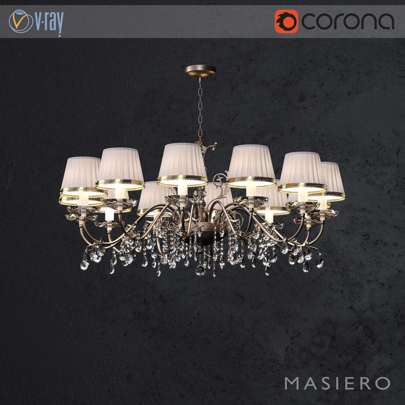 3D model chandelier primadonna 12