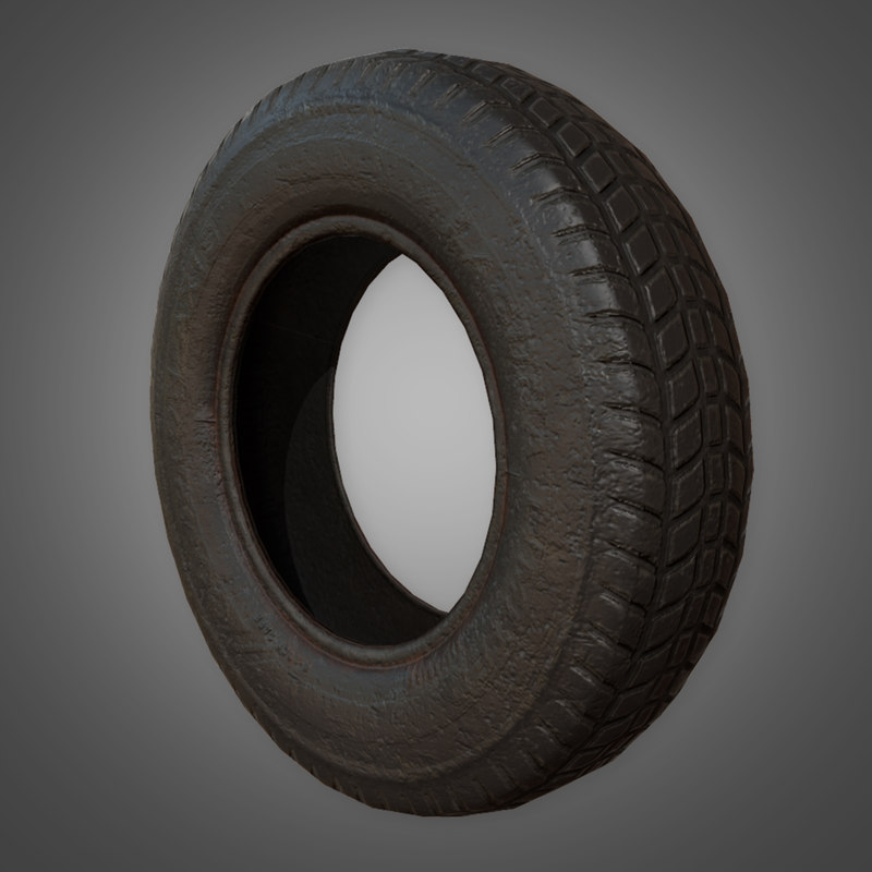 old rubber tire - 3D model