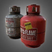 Propane Tank Set - PBR Game Ready