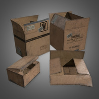 Cardboard Boxes Set 1 - PBR Game Ready