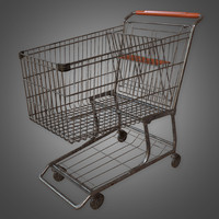 shopping cart - pbr 3D model