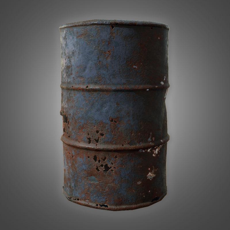 old oil barrel - model