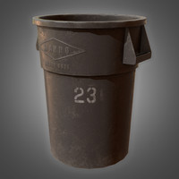 trash barrel - pbr 3D