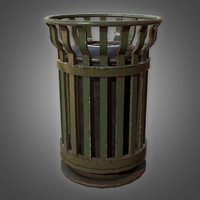 3D trash bin 1 - model
