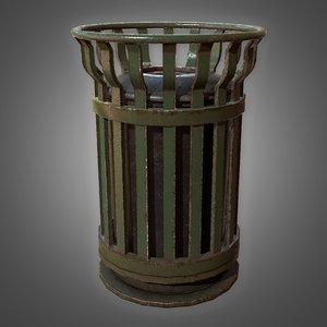 3D trash bin 1 - model