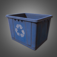 Recycle Bin - PBR Game Ready