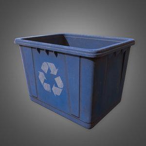 3D recycle bin - pbr