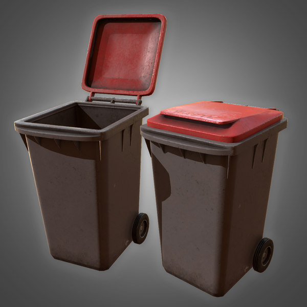 city trashcan - pbr 3D model