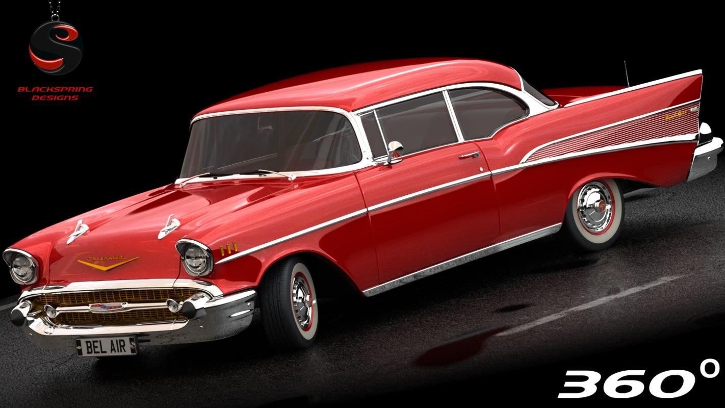 chevrolet bel air 1956 3D model