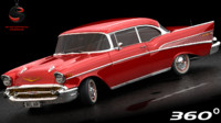 chevrolet bel air 1956 3D model