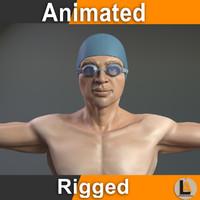 swimmer male 3D model
