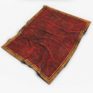 old red carpet 4 3D model