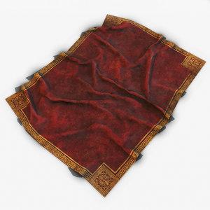 old red carpet 5 3D model