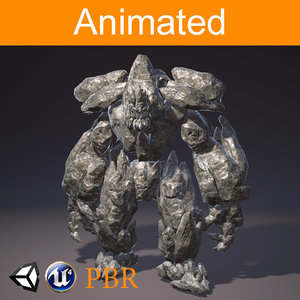 golem animations 3D model