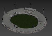 cricket stadium 3D model