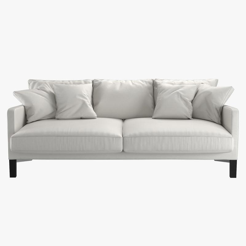 sofa dumas living divani 3D model