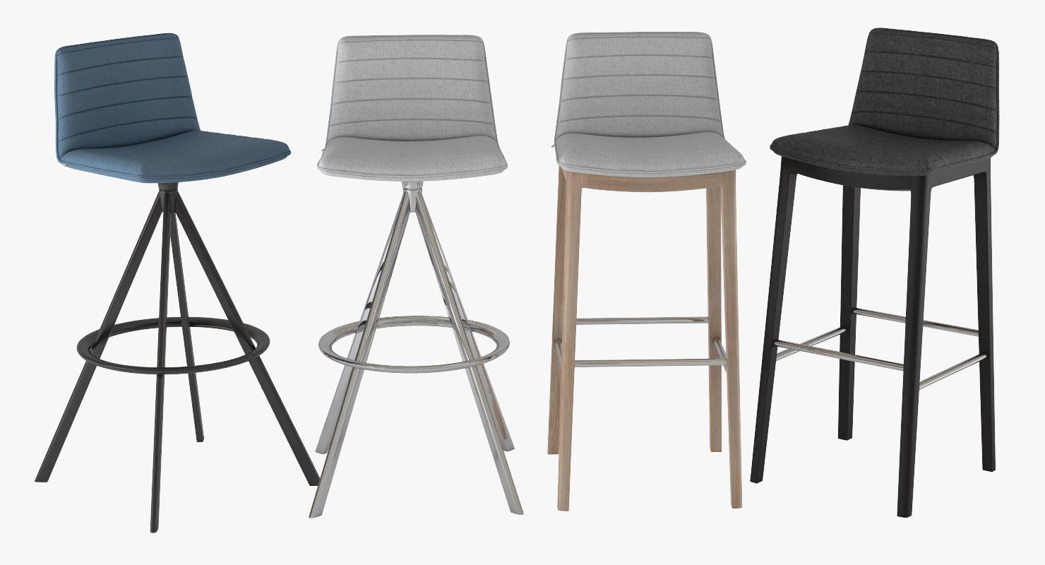 3D bar stool flex andreu